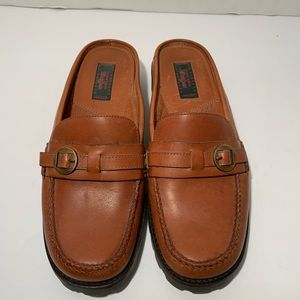 Bass Shoes - G.H. Bass & Co Brown Leather Slide Loafers